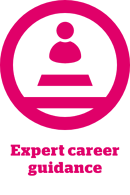 Expert career guidance icon with label