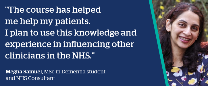 Megha Samuel quote - The course has helped me help my patients.