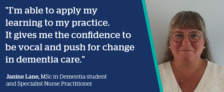 Quote from Janine Lane - I'm able to apply my learning to my practice.
